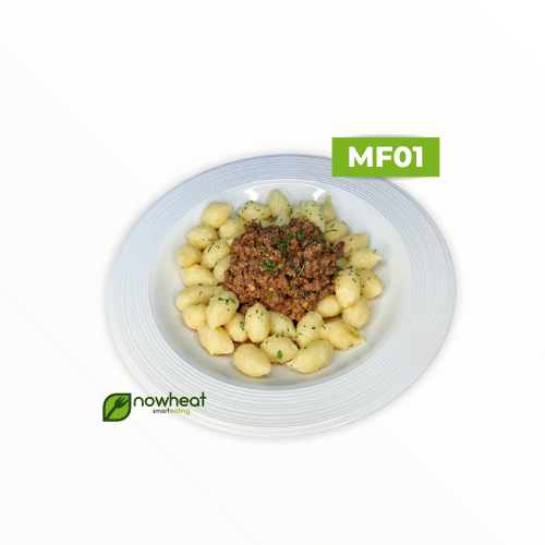 Mf01: nhoque de batata doce com carne moída 350g
