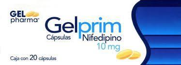 Gelprim nifedipino 10 mg cápsulas