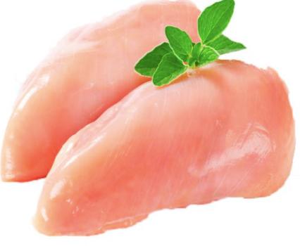 Peito de frango fresco sem osso A granel