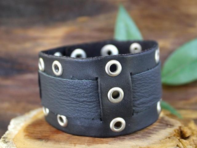 Pulsera cuero cinturón de guerrero 20cm con extensión 23cm