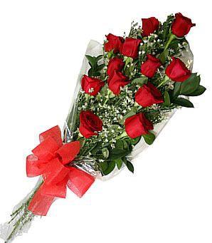 Bouquet 12 rosas rojas ramo de rosas 40cms x 75 cms