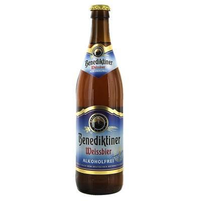 Cerveza clara Benediktiner Weissbier sin alcohol botella de 500 ml *