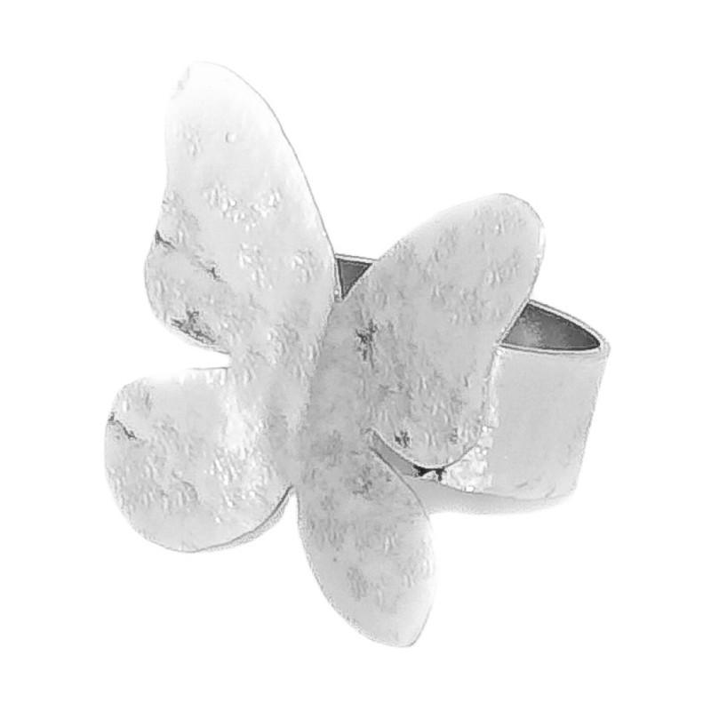 Anillo mariposa pequeño plata Medidas: L 2.2cm x A 2.6cm