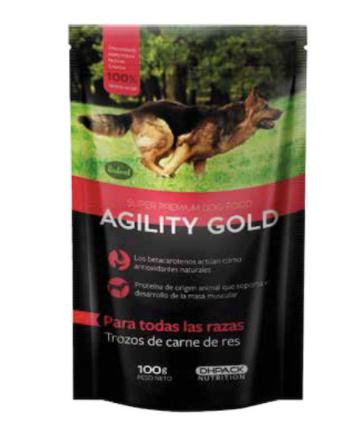 Trozos de carne de res alimento para perros italcol 100 gr