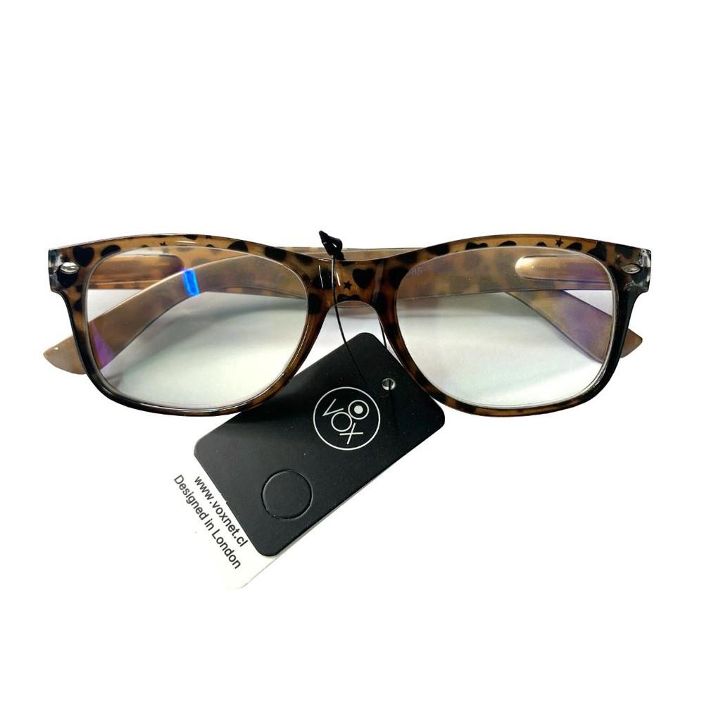 Anteojos ópticos animal print +1.00 0,01