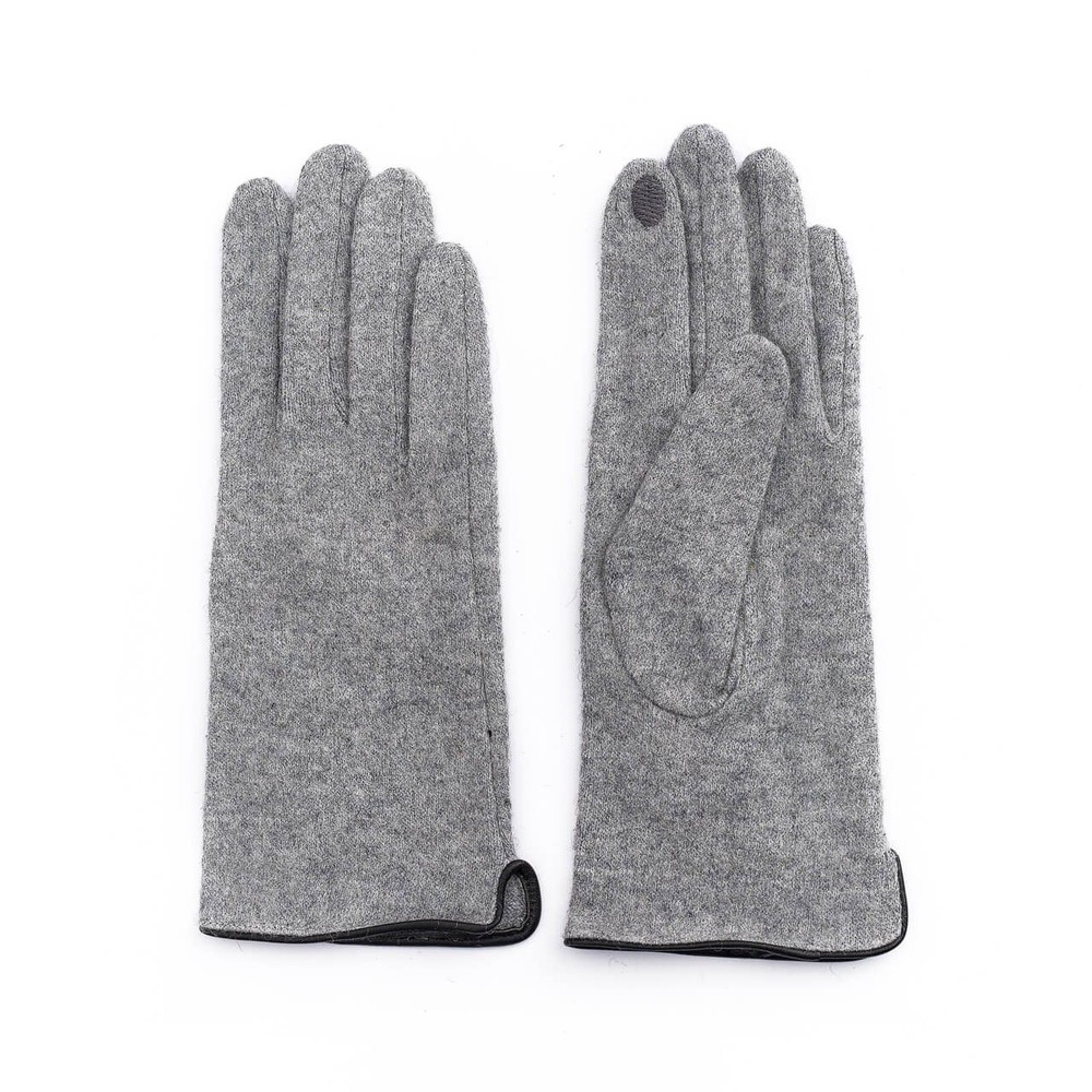 Guantes lanilla gris touch screen 23