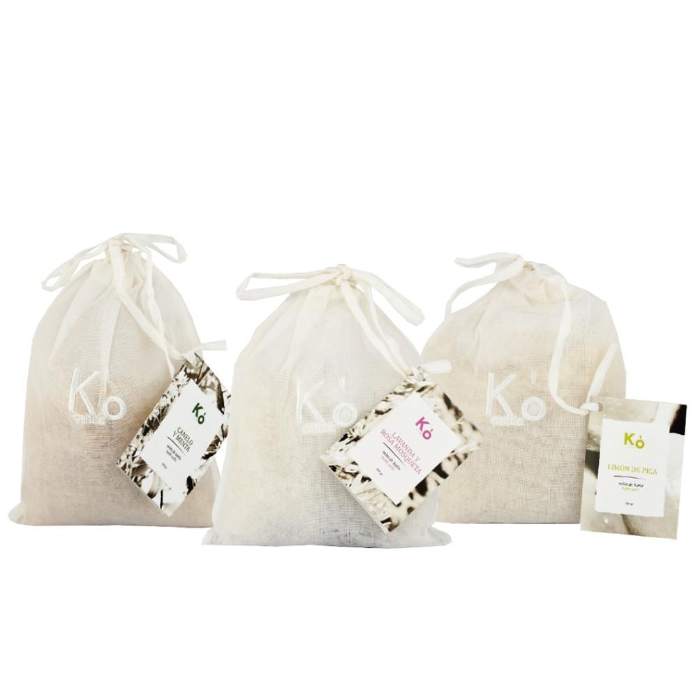 Trilogía sales de baño 300 g 3 bolsas de 300 g
