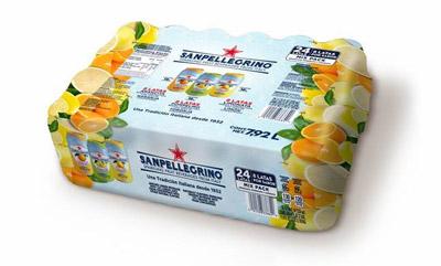 Agua mineral mix pack aranciata