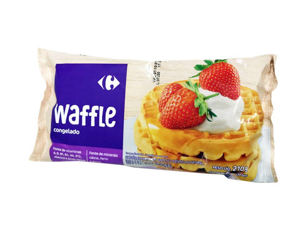Waffle tradicional congelado