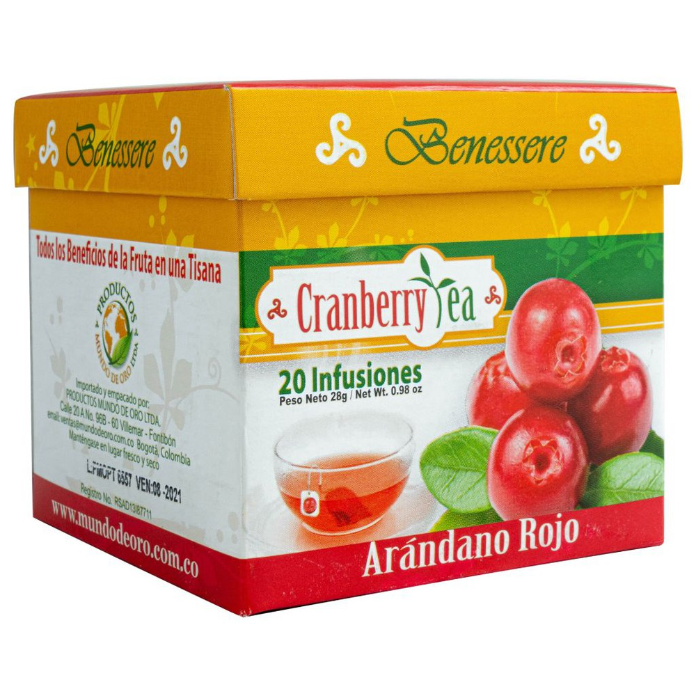 Cranberrytea - arandano rojo Caja x 20 unidades