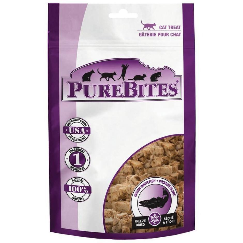 Freeze dried ocean whitefish cat treats