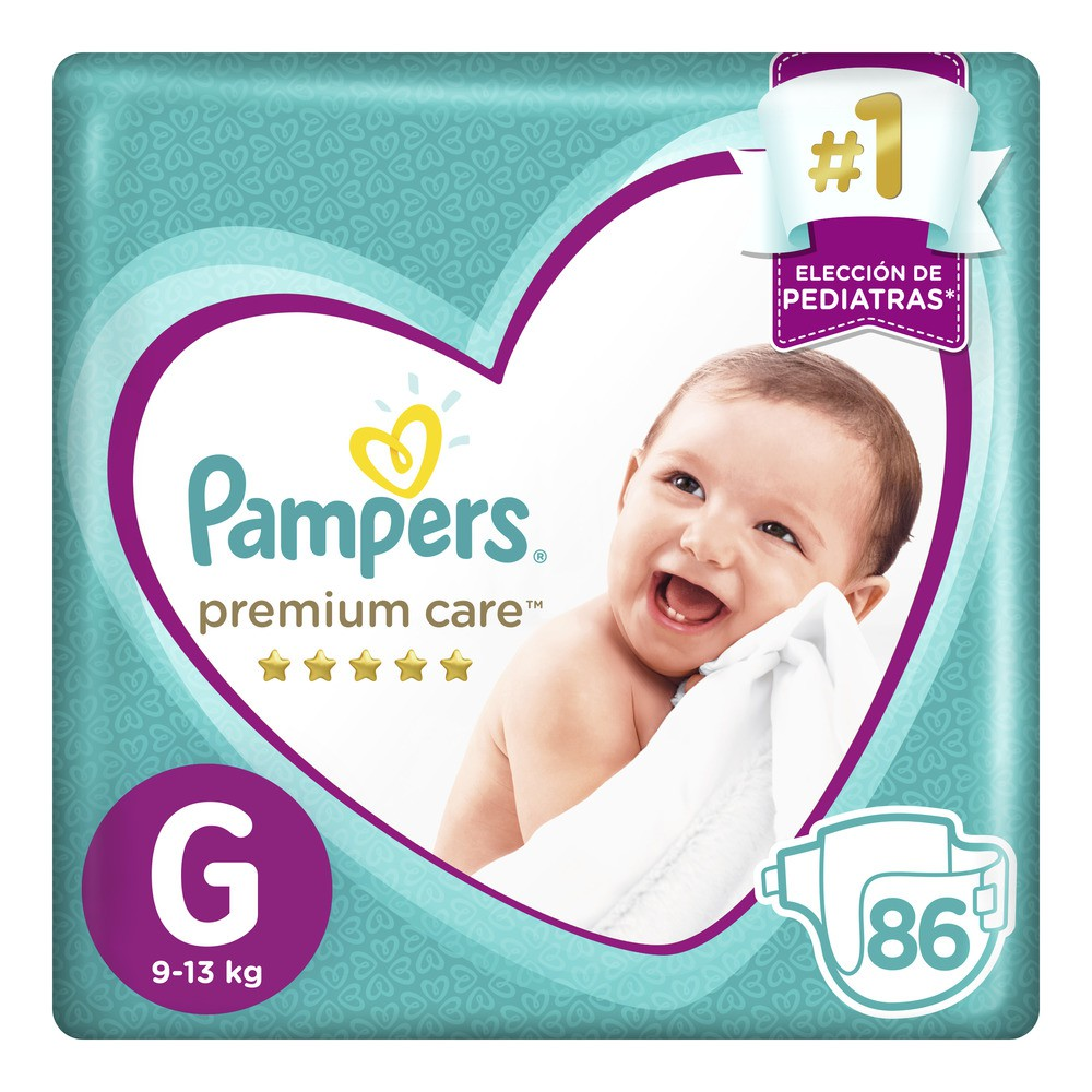 Pañal pampers premium care g