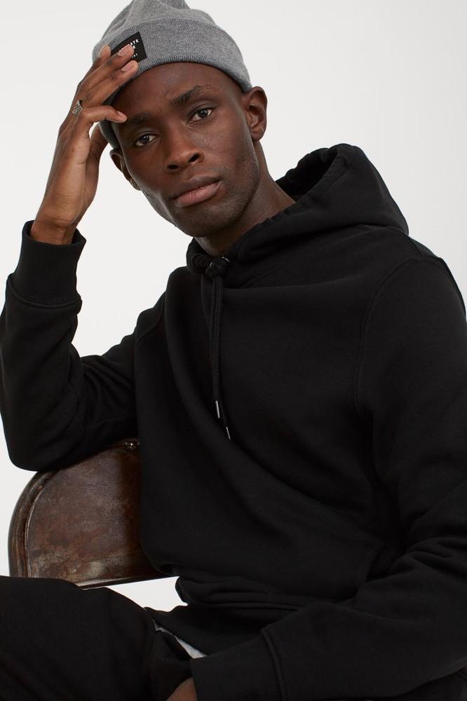 Regular Fit Hoodie Color: black. Size: xl
