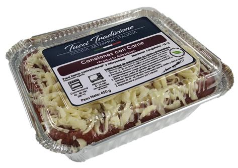Canelones con carne Individual (450 g)