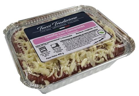 Lasaña con camarones Individual (400 g)