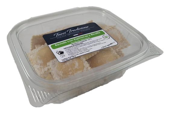 Raviolis con ricotta y espinacas 2 porciones (320 - 370 g)