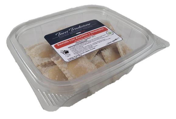 Raviolis con auyama y almendras 2 porciones (320 - 370 g)