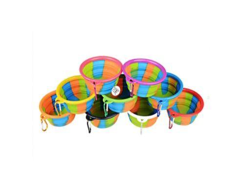 Plato de Comida Portátil Rainbow L Multicolor