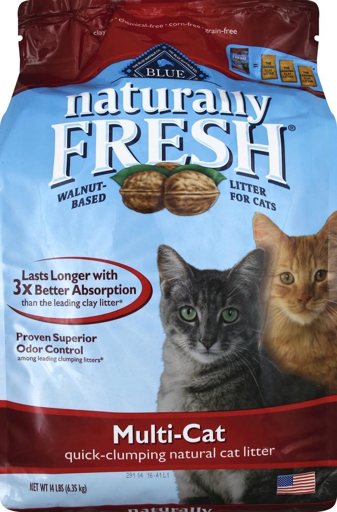 Cat litter, natural, quick-clumping, multi-cat