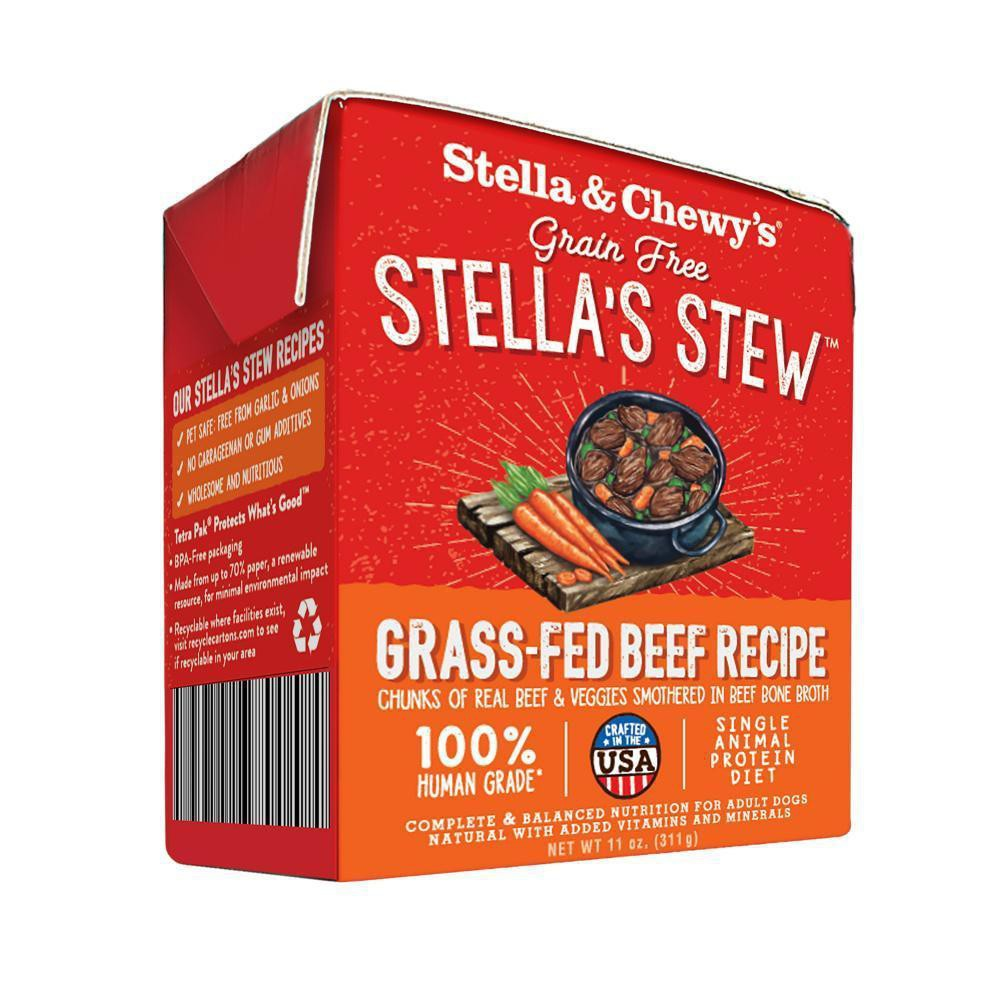 Stella's stew grass fed beef recipe food topper for dogs