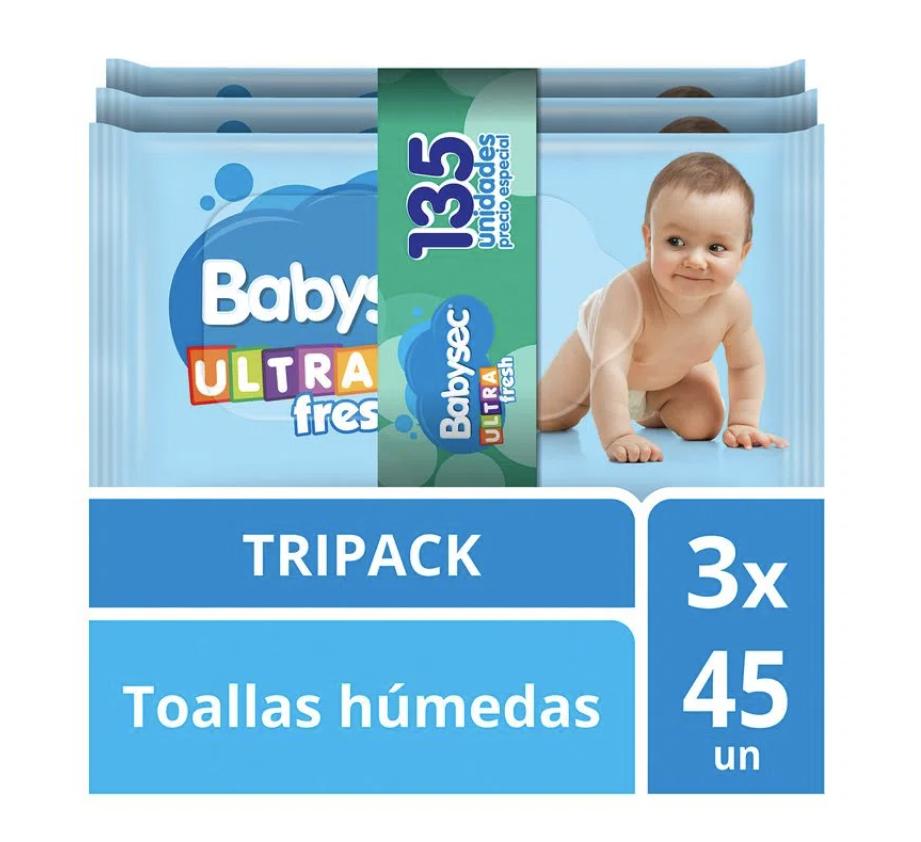 Pack toallas húmedas ultra fresh