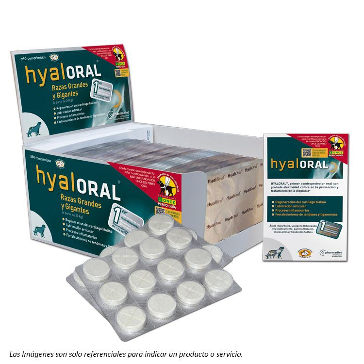 Hyaloral Razas Grandes y Gigantes Blister de 12 Comprimidos