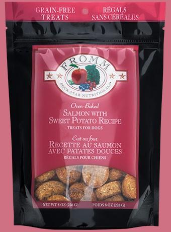 Grain- free salmon & sweet potato treats 8 oz