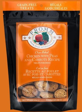Grain- free chicken w/ carrots & peas treats 8 oz