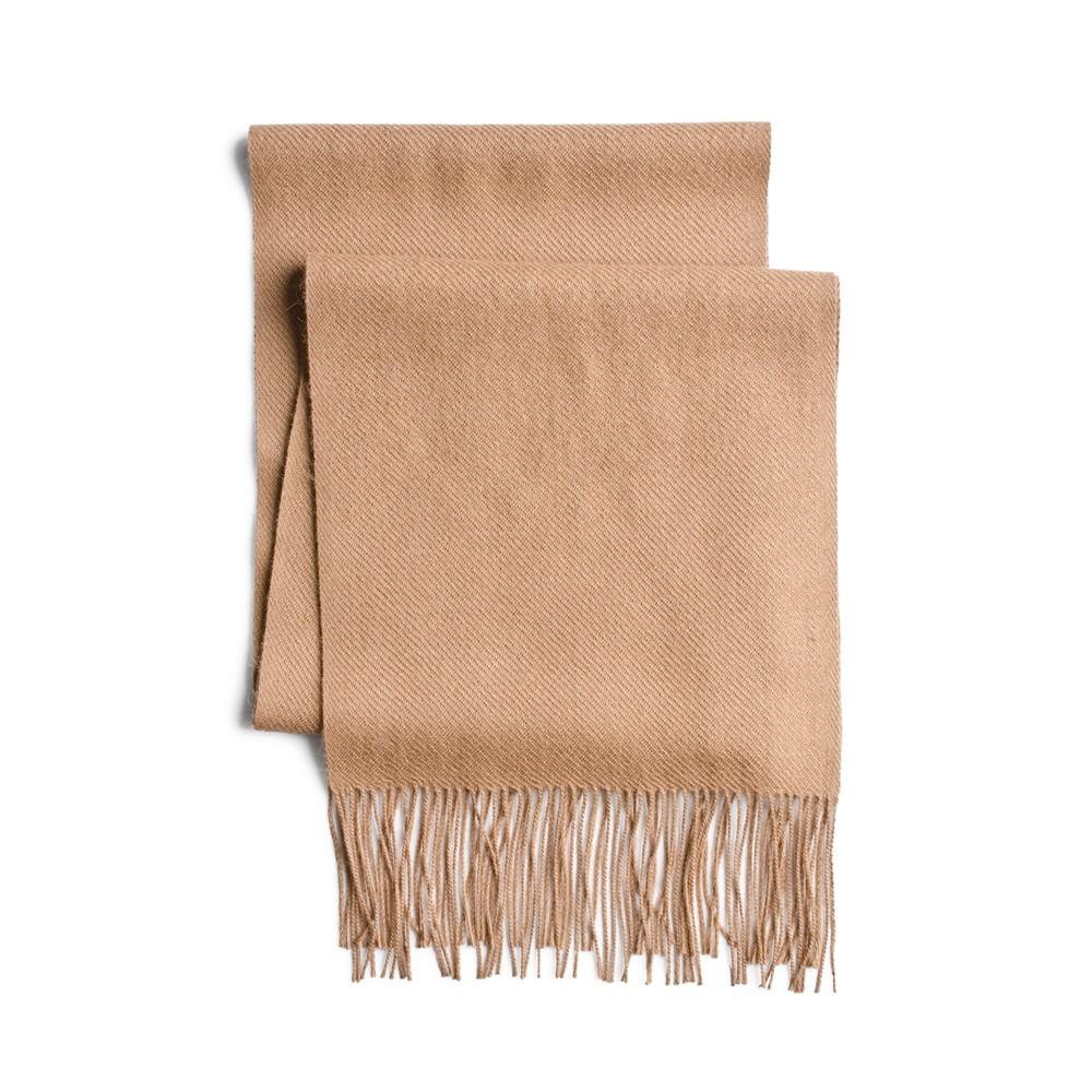Bufanda lisa de alpaca Talla: Única Color: Camel