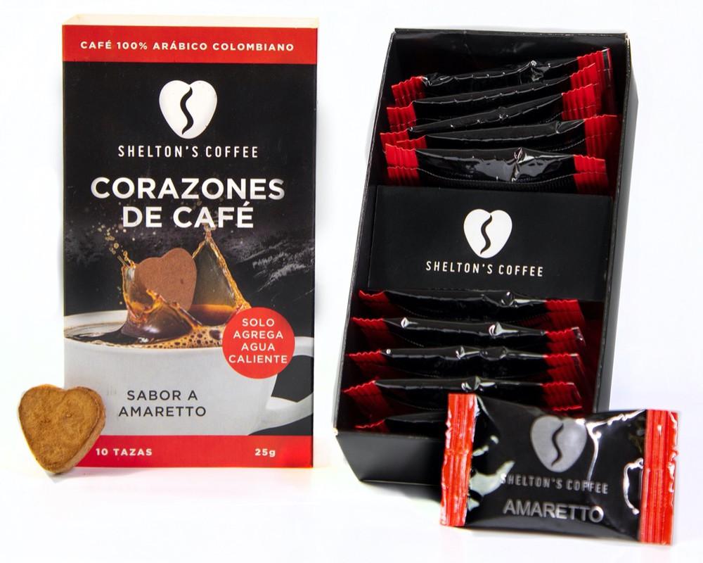 Coffee Hearts Amaretto Caja de 10 Unds. 10 tazas
