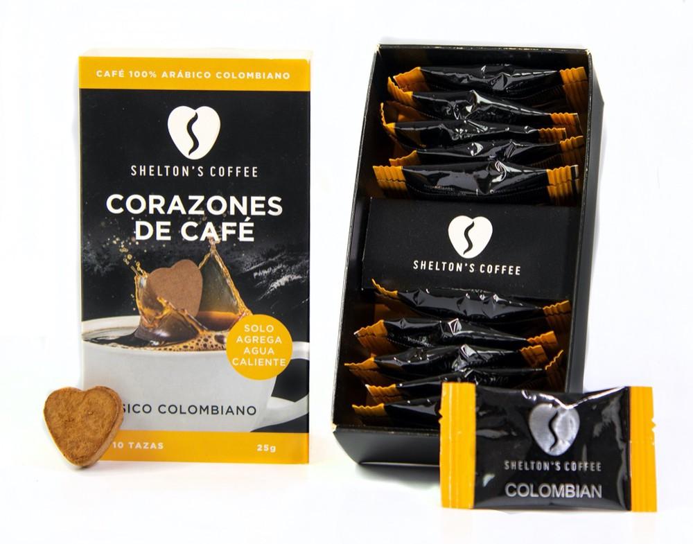 Coffee Hearts Colombiano Caja de 10 Unds. 10 tazas
