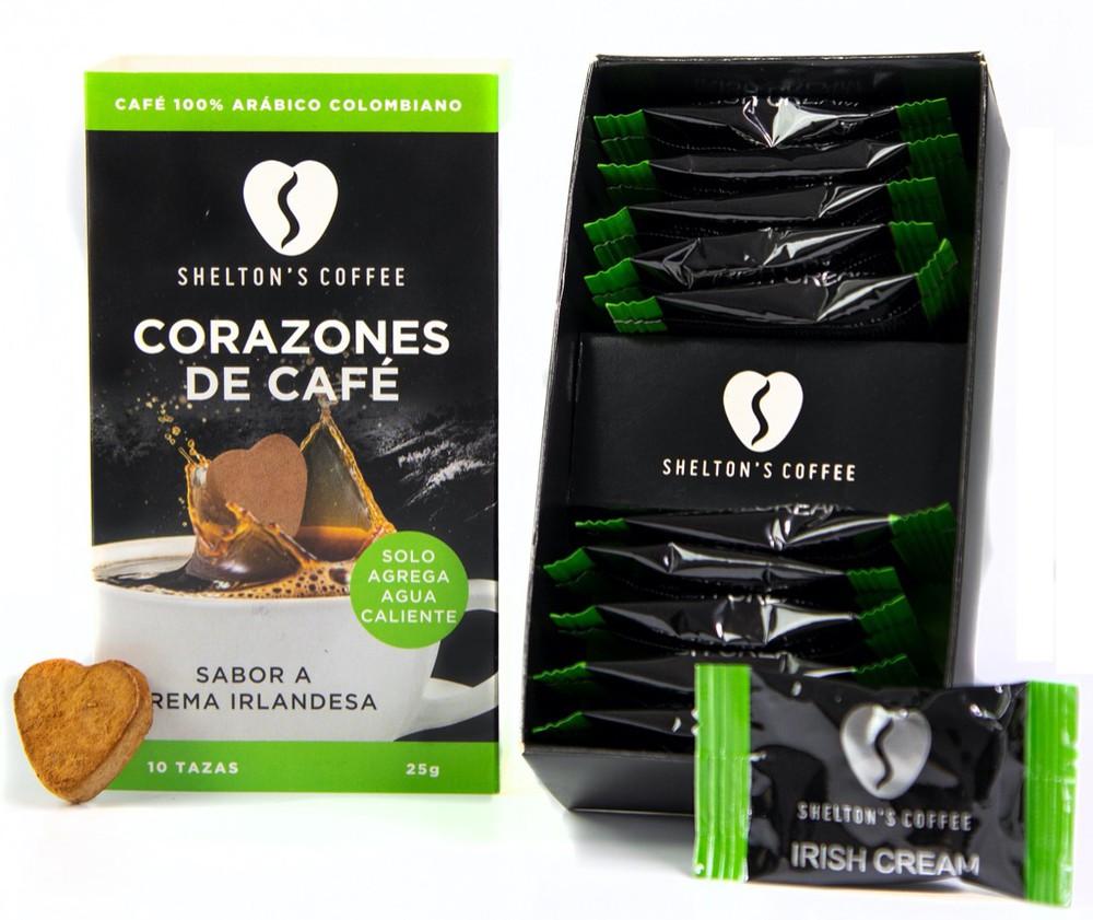 Coffee Hearts Irish Cream Caja de 10 Unds. 10 tazas
