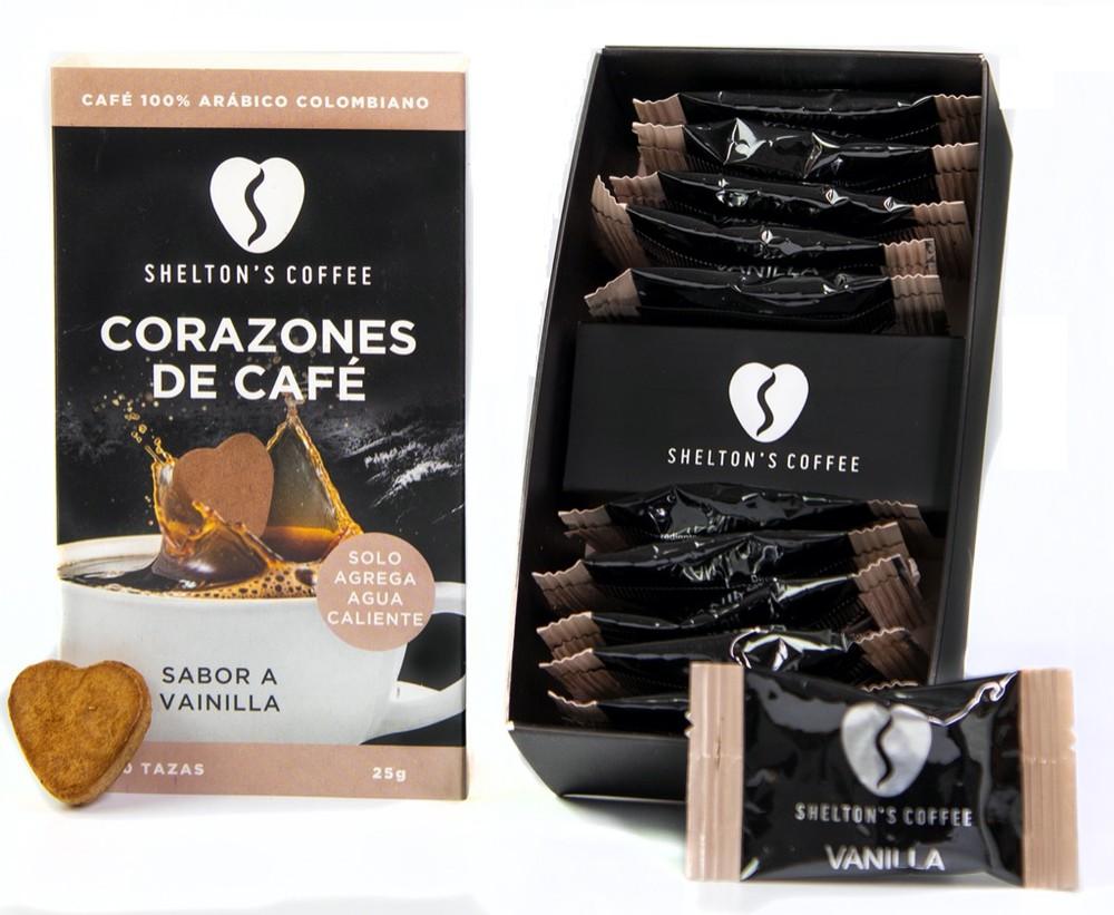 Coffee Hearts Vanilla Caja de 10 Unds. 10 tazas