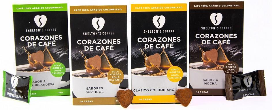 Combo 4b (Assorted, Irish Cream, Colombian & Mocha) 4 Cajas, 10 Und c/u