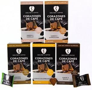 Combo 5 (Assorted, Vanilla, Colombian, Irish Cream & Mocha) 5 Cajas, 10 Und c/u