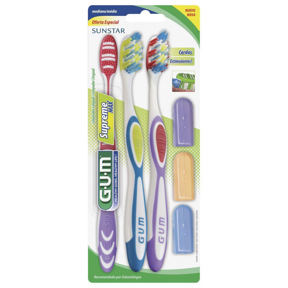 Oa 3 pack cepillo dental mediano 1502