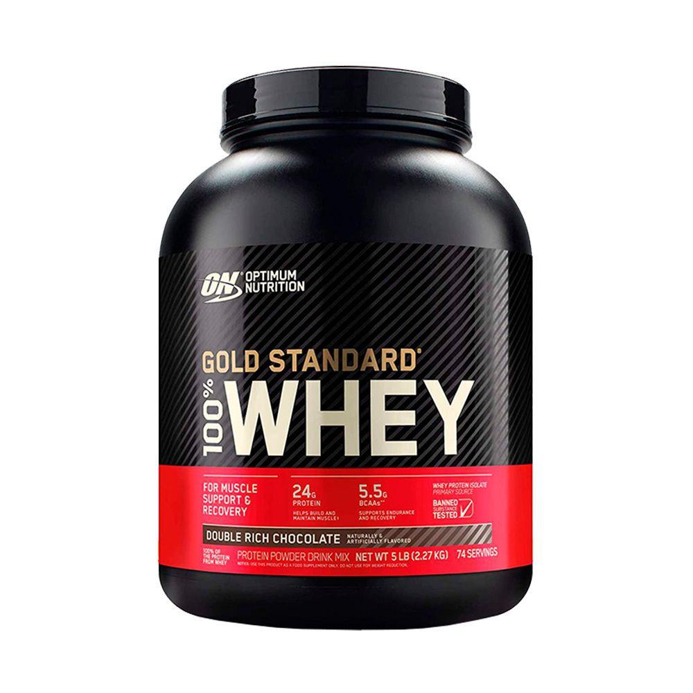 Proteina Whey Gold Standard sabor Doble rich chocolate 5 Lbs - 74 servicios