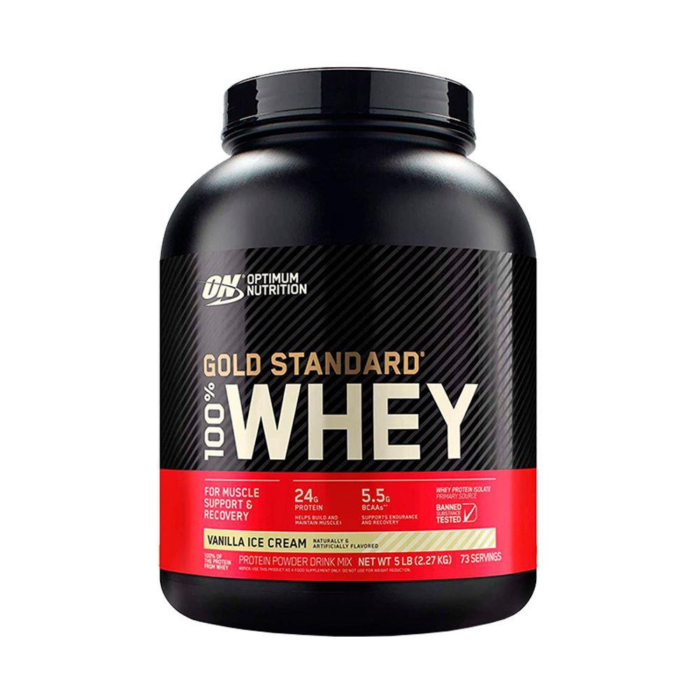 Proteina Whey Gold Standard sabor Vainilla 5 Lbs - 73 servicios
