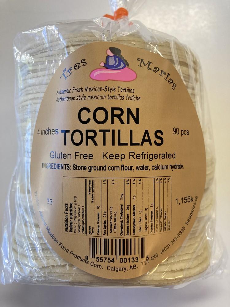 "Corn tortillas 4"""