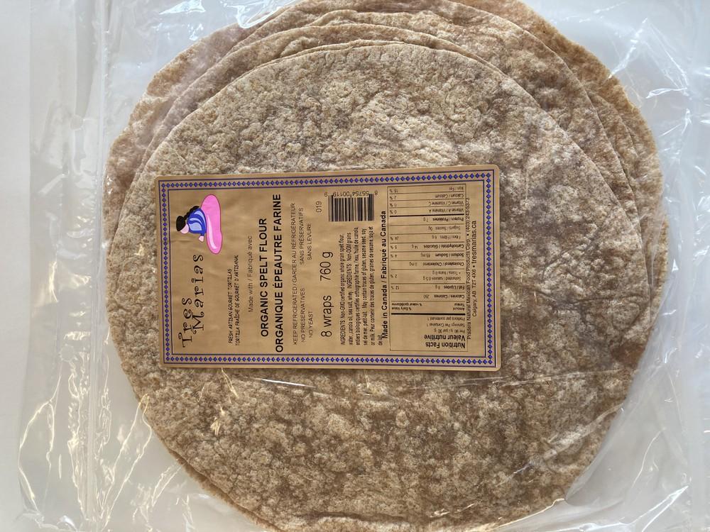 Organic spelt flour & olive oil tortillas