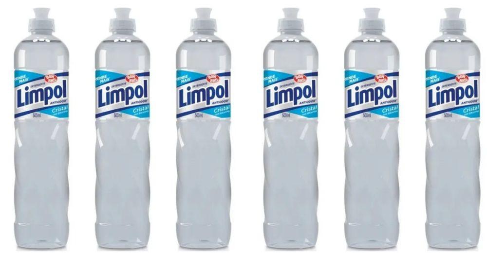 Detergente líquido cristal natural 6x500ml
