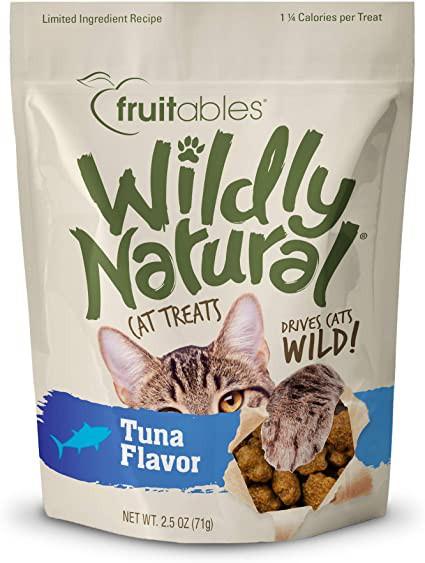 Wildly natural crunchy cat treats tuna
