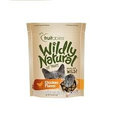 Wildly natural crunchy cat treats chicken
