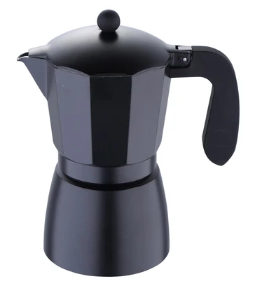 Cafetera italiana 9 tz negra 1 unidad