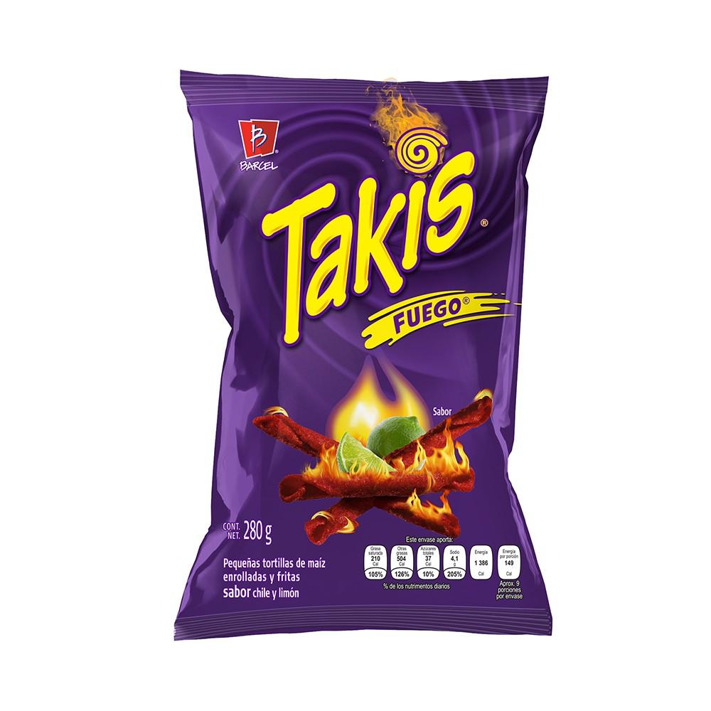 Tortillas fritas Takis fuego