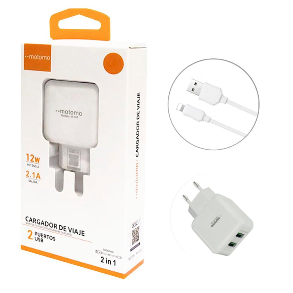 Cargador carga rápida 2,1  para iphone 2.1 amp