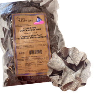 Chips corn organic blue corn