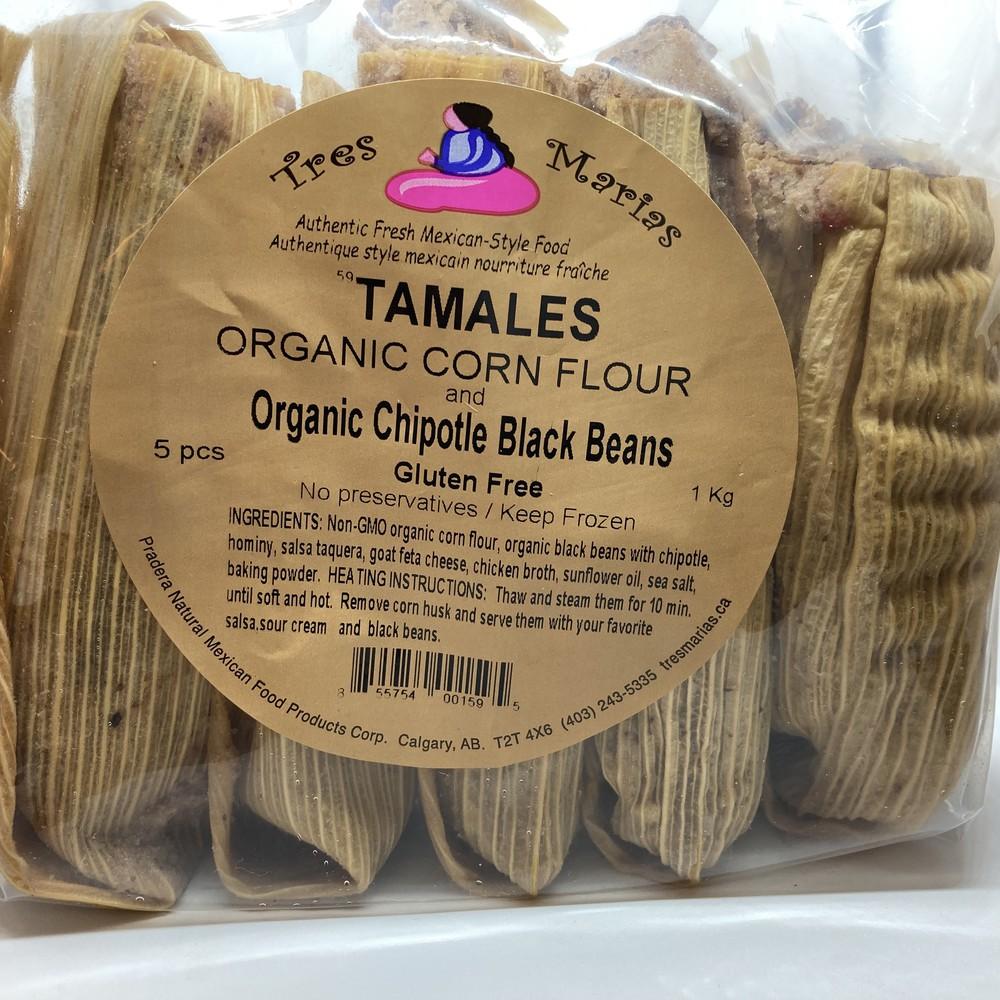 Tamales chipotle black beans & hominy mild
