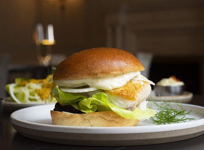 Spinach and feta halibut burger (2 pc x 4oz.)