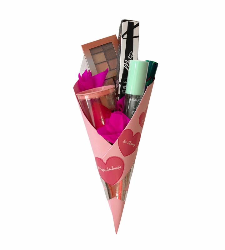 Ramo de maquillaje bronze Kit de 5 piezas